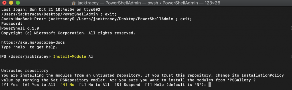 PowerShell Untrusted Repo