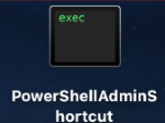 PowerShell As Admin Mac OS Shortcut